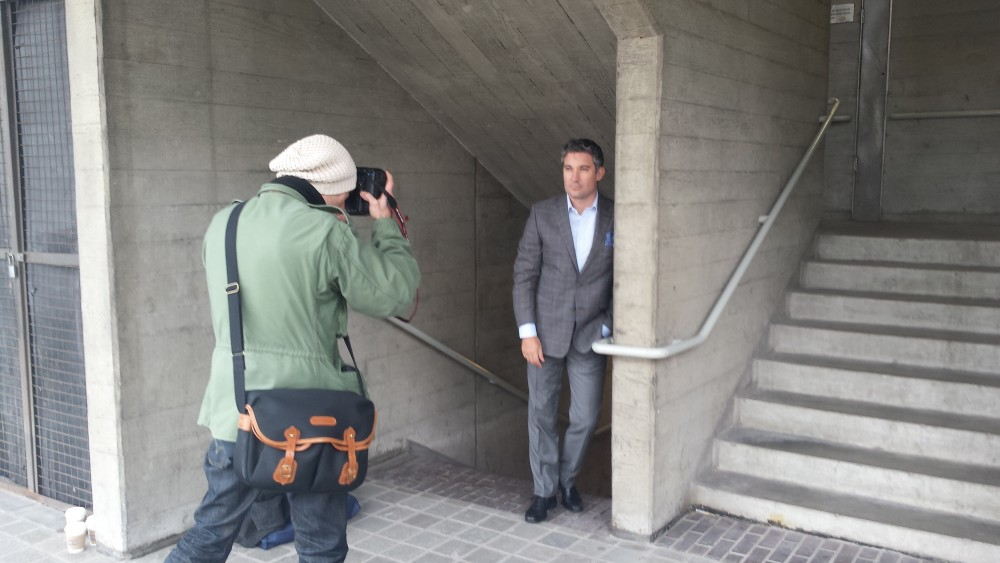 Stephen Handisides modelling suit2