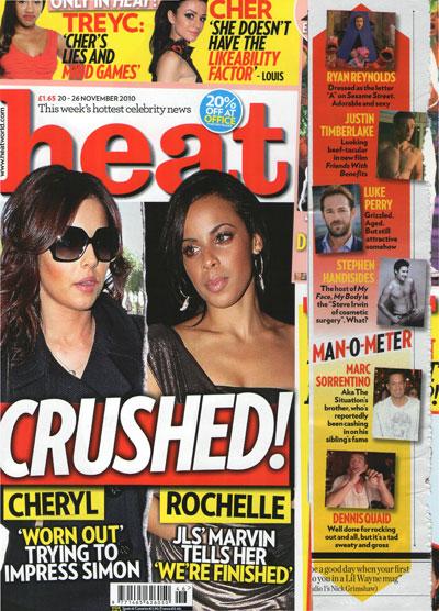 as featured in heat magazine stephen handisides